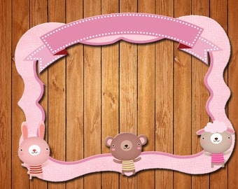 Animals  themed party photo frame