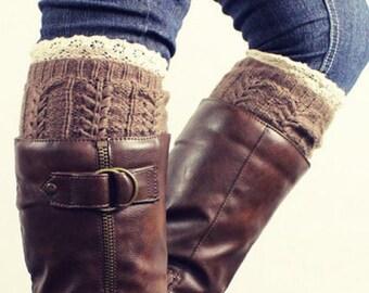 Lace Jacquard Boot Sock