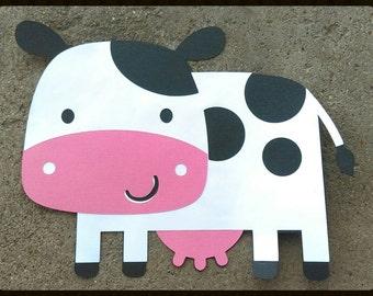 Cow Die Cut, Cow die cut for Cards, Embellishments. Cow paper piercing.