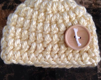 Yellow newborn baby hat, newborn hat, baby hat, hat, newborn, baby, crocheted hat, crochet hat, crochet baby hat, crochet, yellow