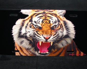 TIGER METAL Novelty License plate For cars  eyes of the tiger
