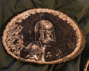 Boba Fett Wood Piece