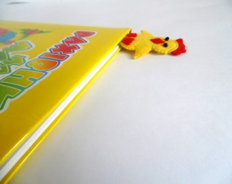 Bookmark, Felt Bookmark, chick bookmark, Eco-friendly Felt chick Bookmark