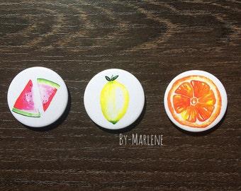Magnets * fruit * 3 he set