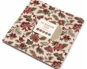 "Le Marais Layer Cake A Bonheur des Dames by French General for  Moda Fabrics  #13730LC 100% Cotton 42- 10""x10"" precut squares"