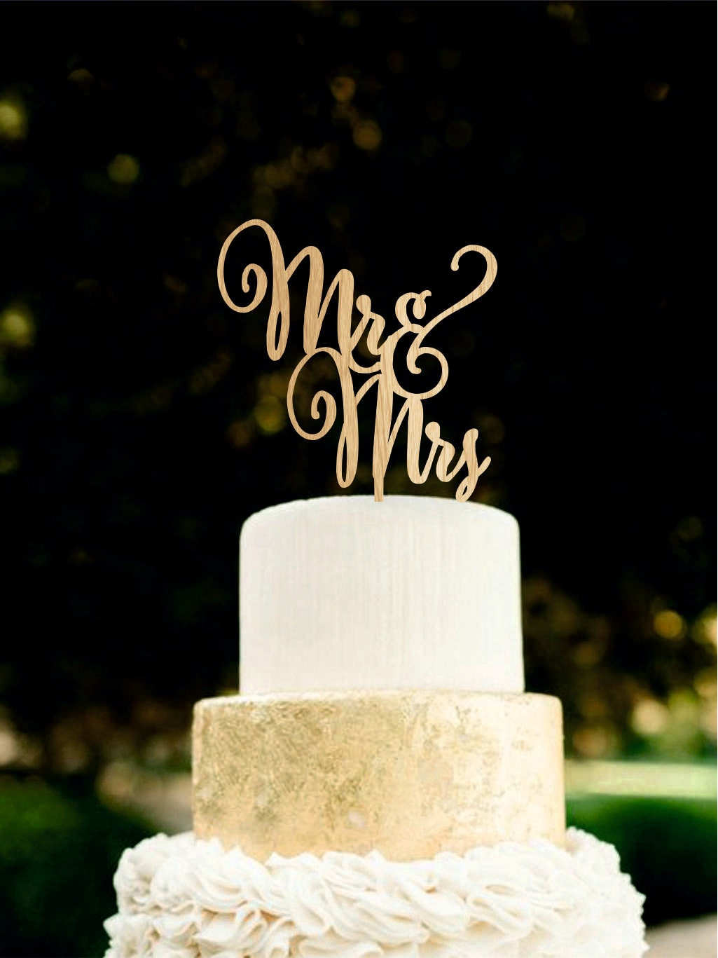 Mr and Mrs wedding cake topper Wooden Cake Topper unique