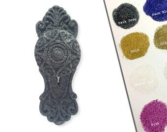 ANY COLOUR - Mortise Door knob glitter hooks