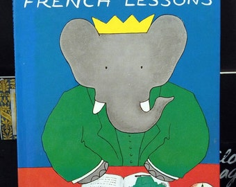 Laurent de Brunhoff, Babar's French Lessons, 1st Edition Book with Dust Jacket, A Rarity (1963)