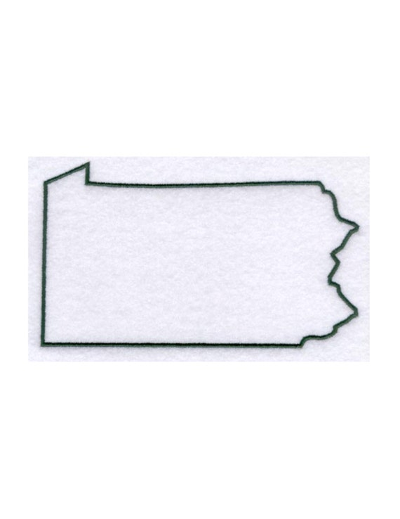 Pennsylvania Stencil Made From 4 Ply Mat By