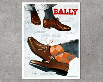 Items similar to vintage bally made in switzerland ballet - Bally madrid ...