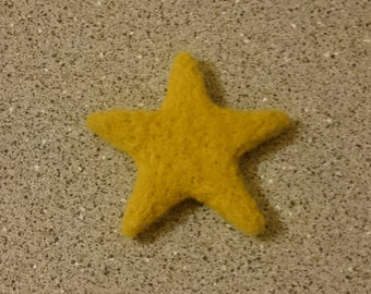 Needle Felted Yellow Star