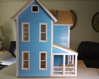 Hand crafted wooden Doll house, not from a kit, and BRAND NEW!