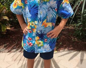 Boy's Hawaiian Shirt vacation, beach cruise, luau birthday party!