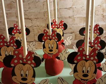 12 Minnie Mouse Cake Pops for Birthdays Parties and Kids' gatherings