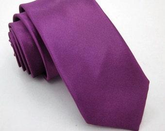 Purple Skinny Tie Boyfriend Gift Men's Gift Anniversary Gift for Men Husband Gift Wedding Gift For Him Groomsmen Gift for Friend Gift Ideas