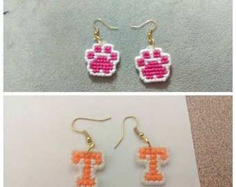 Cross Stitched Earrings