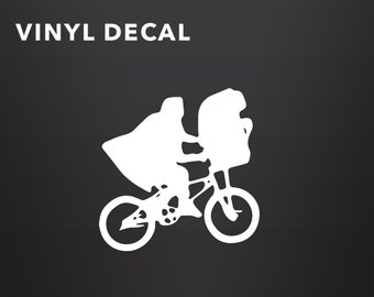 E.T. Decal, Wall Decal, The Extra Terrestrial, E.T., E.T. Vinyl Decal, Car Sticker
