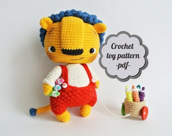 "Crochet pattern amigurumi ""Bonya. Little lion"" pdf"