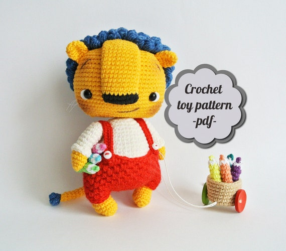 Little Amigurumi Lion : Crochet pattern amigurumi Bonya. Little lion pdf