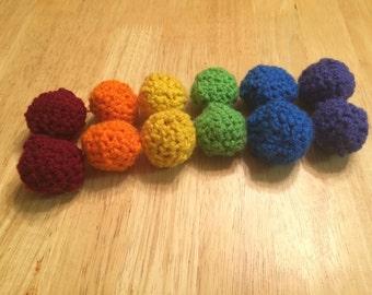 Crochet Cat Balls with Cat Nip