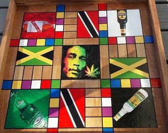 Jamaican/Trinidad Ludi (Ludo) Board