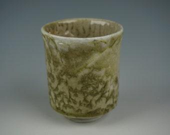 Guinomi - Small Cup - Angama Wood Fired - Shino glaze