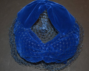 Blue Fascinator Hat