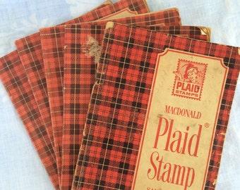MacDonald Plaid Stamp Books