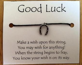 """Good Luck """"Horseshoe"""" Wish Bracelets"""