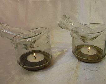 Transpaent tea light holder