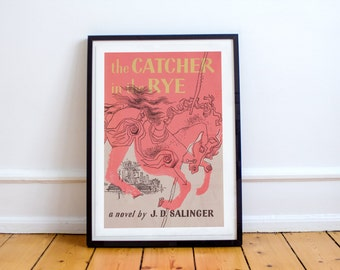 The Catcher in the Rye Poster Premium Quality J. D. Salinger Book Cover