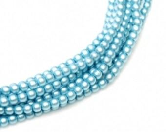 MP-Turquoise Czech Mini Pearls 2mm #85625
