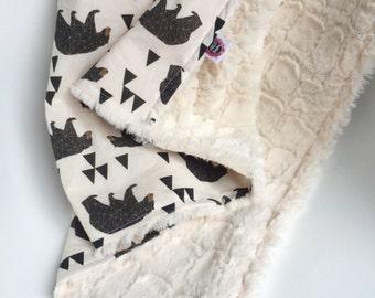Woodland Theme, Baby Blanket, Minky Blanket, Forest Crib Bedding, Nursery Bedding, Gender Neutral