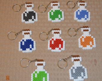 Minecraft Potion keychains - Set of 8