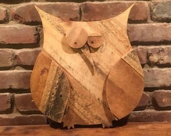 Folk Art Pallet Wood Owl