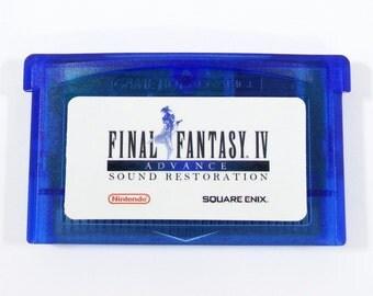Final Fantasy IV 4 sonido avance restauración cartucho GBA para Nintendo Game Boy avance RPG carro Music Remaster - envío gratis!