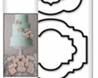 Plaque Cookie Cutters Set of 6 by Wilton