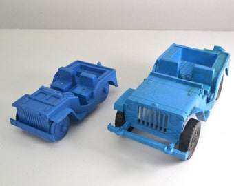 Vintage Toy Jeeps, Collectible Toy Vehicles From The 1960's, Blue Jeeps, Vintage Toys