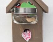 Laineys Wood Treat-Leash-Poop Bag Station