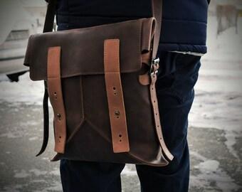 Leather Satchel Bag + Leather Crossbody Bag + Leather bag + Leather Handbag + Leather Shoulder Bag + Book Bag + Leather Camera Bag