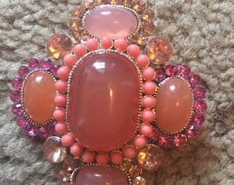 Pink brooche