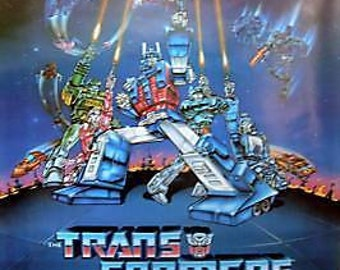 Transformers The Movie 27 x 40 Animated Movie Poster 1986
