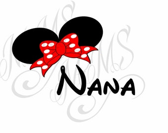 Nana Family Grandma Mickey Mouse Head Disney Family Download Iron On Craft Digital Disney Cruise Line Magnet Shirts