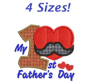 My 1st Father's Day embroidery designs Father's Day  applique design embroidery machine 3