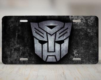 Transformers Autobots Logo Aluminum License Plate