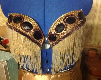 Copper/brown/black belly dance costume