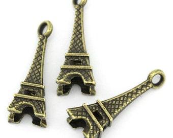 Eiffel Tower Charms, Eiffel Tower Pendants, French Charms, French Pendants, Landmark Charms, Landmark Pendants, French Applique, 3D Charms