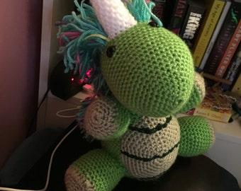 Custom Stuffed Animal - Dinocorn shown