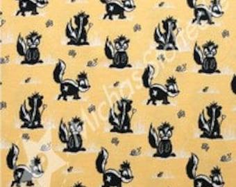 cotton / lycra yellow skunk