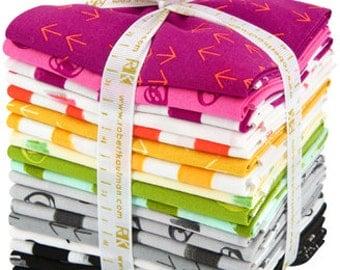 Great Deals Color Dash Bundle by Heather Jones Fat Quarter Bundle complete collection for Robert Kaufman fabric